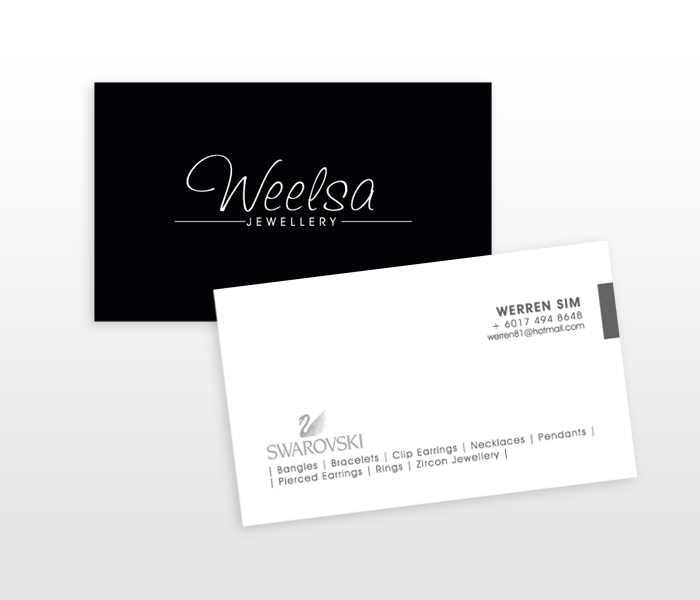 Weelsa Namecard Design  Penang Website Digital And Graphic Design